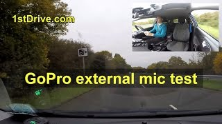 External GoPro microphone tested on high speed driving