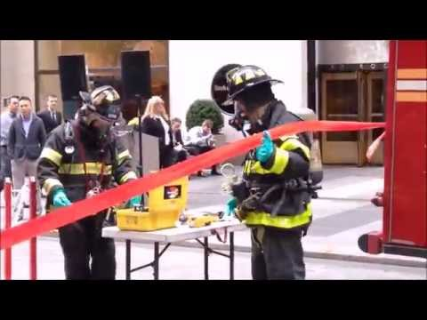 SOME OF THE ACTIVITIES OF THE FDNY FIRE PREVENTION WEEK 2014 IN MIDTOWN, MANHATTAN IN NEW YORK CITY.