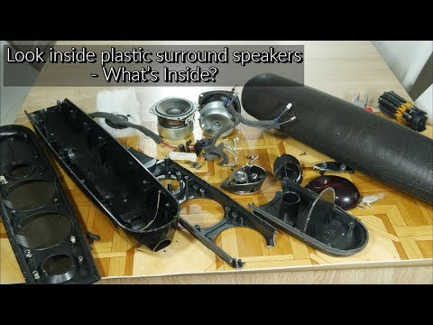 Look Inside Plastic Surround Speakers - What's Inside?