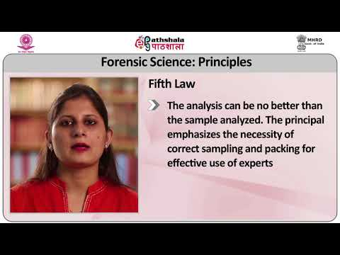 Forensic Science  History, principles, Division and  Ethics in Forensic Science
