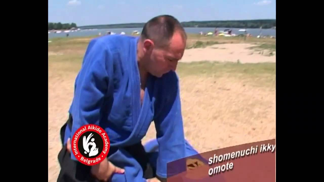 Aikido techiques by Bratislav Stajic: Shomenuchi ikkyo - omote