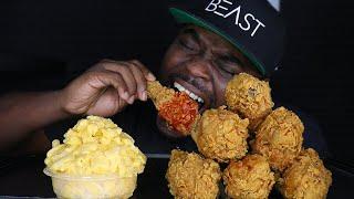 ASMR EATING SPICY KFC FRIED CHICKEN   ASMR EATING NO TALKING MUKBANG   CRUNCHY ASMR FOOD  BEAST MODE