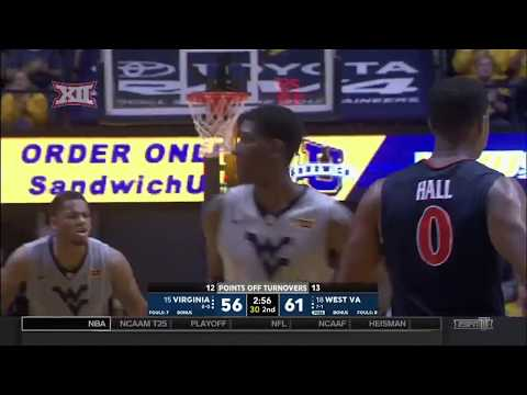 Virginia vs West Virginia Men's Basketball Highlights