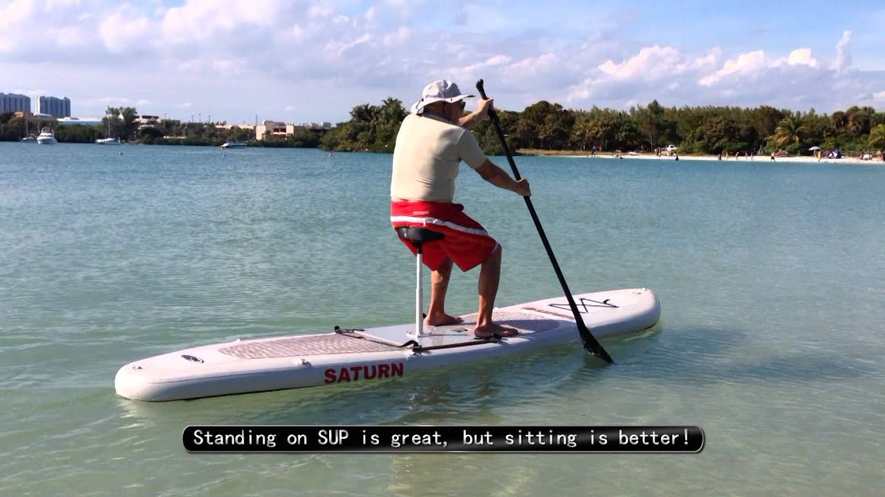 Test Of New Invention Prototype Bike Seat For Sup Paddle