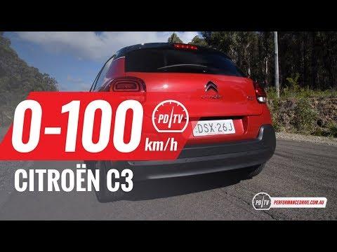 2018 Citroen C3 (1.2T) 0-100km/h & engine sound