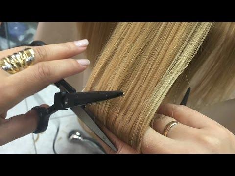 Стрижка горячими ножницами в салоне красоты Линия Вита