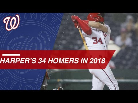 Check out Bryce Harper's 33 home runs from 2018