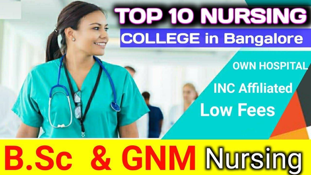 Top 10 B Sc Nursing College In Bangalore Youtube