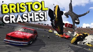 NASCAR BRISTOL CRASH FLIPS CAR OVER WALL! - Next Car Game: Wreckfest Gameplay - Nascar Big One
