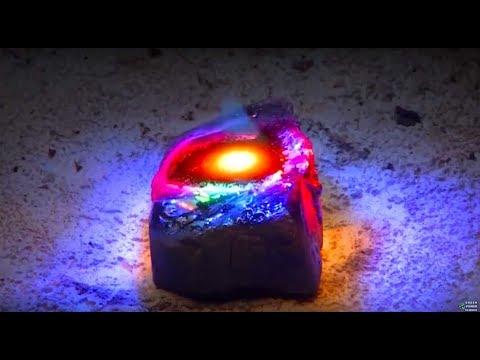 Fresnel Lens 3002ºF DIY Lava Obsidian FARMING Melt Rock Sunlight Solar greenpowerscience