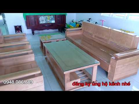 Salon gỗ sồi nga mẫu Trứng Đối mặt gỗ liền giá rẻ