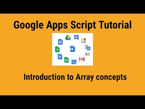 Introduction to array in Google apps script from YouTube · Duration:  9 minutes 9 seconds