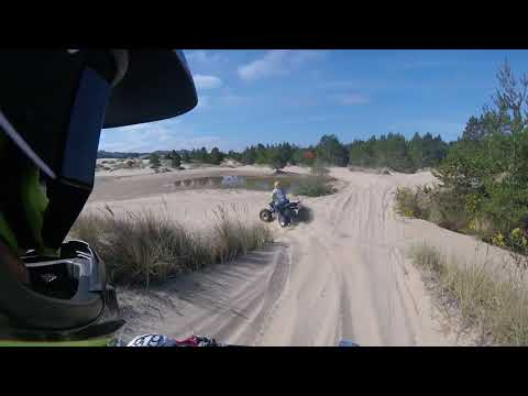 Riding with my buddies at Spinreel dunes Oregon Coast