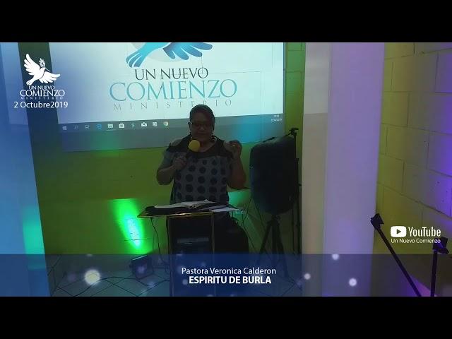 Predica # 123 - ESPIRITU DE BURLA- Pastora Verónica Calderon