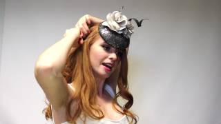 How to position, fix & wear a fascinator set on an elastic