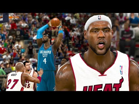 LEPOST GETS HIS FIRST POSTER DUNK! YOUNG LEBRON AND D WADE RUN MIAMI! NBA 2K11 MyPLAYER