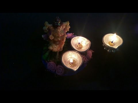How to make Diya stand..............in a very easy way
