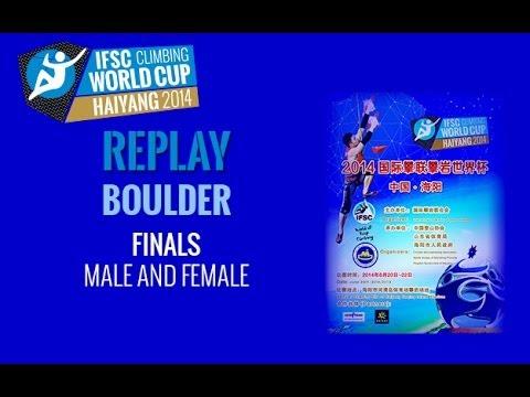 IFSC Climbing World Cup Haiyang 2014 - Boulder - Finals - Men/Women
