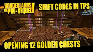 Borderlands: Pre-Sequel! Opening 12 Golden Chests - SHIFT Codes & How They Work
