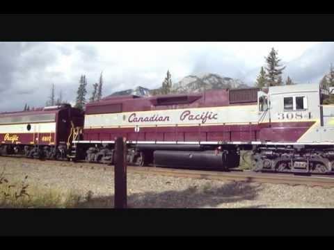 Railfanning the Laggon Sub - Banff National Park Alberta - October 2, 2011