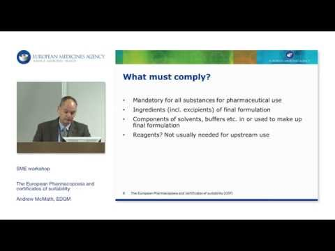 The European Pharmacopoeia and certificates of suitability (CEP)