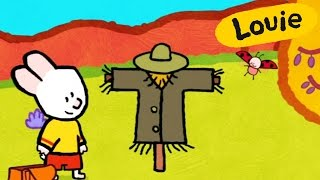 Scarecrow - Louie draw me a scarecrow | Learn to draw, cartoon for children