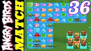 Levels 110 111 112 113 114 115 - Angry Birds Match - Gameplay #36