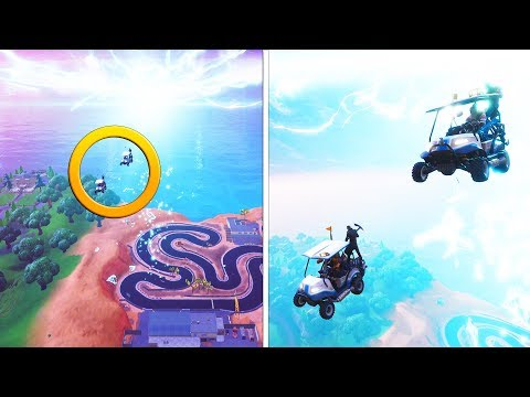 INSANE GOLF CART PORTAL RACING | Fortnite Battle Royale