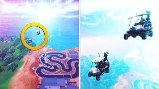 INSANE GOLF CART PORTAL RACING | Fortnite Schlacht Royale