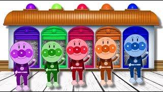 アンパンマン 色を学ぶ -子供の色を学ぶ- カラフルな風船 - anpanman animation learn color