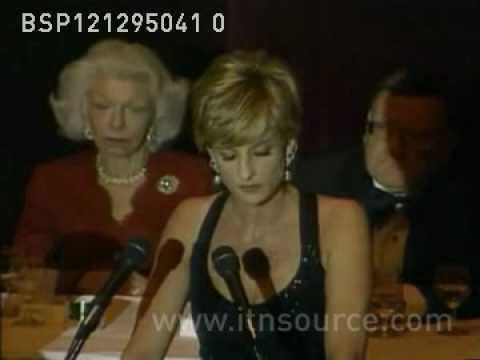 Princess Diana accepts award in New York