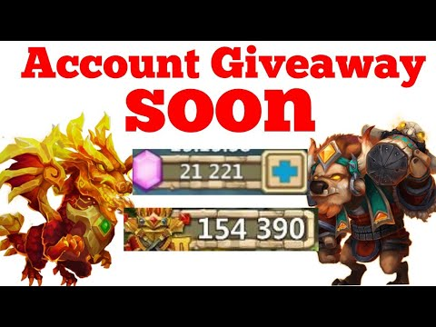 Castle Clash Brand New Account And Account Giveaway