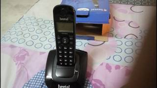 BEETEL X66N CORDLESS LANDLINE PHONE UNBOXING AND FISTLOOK [HINDI]