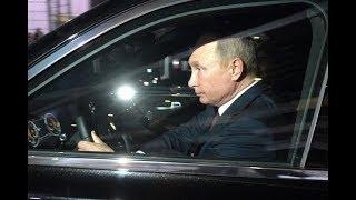 Путин проехал по новой трассе Москва - Санкт Петербург на лимузине Aurus   Пародия