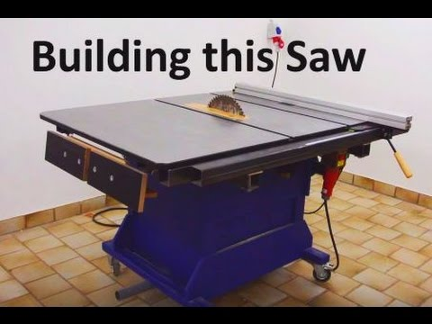 Building A Big Table Saw Homemade Table Saw How To Youtube