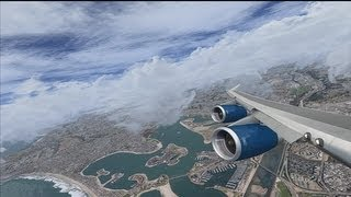 FSX Acceleration [HD] PMDG Boeing 747-400 RR / Real Environment Xtreme / MegaScenery X