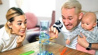 Kerplunk Challenge!  (Matthias Gets Shook)