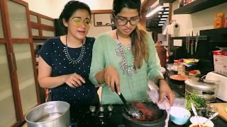 Kappa and fish curry experiment 😍 | AG Vlogs EPI 43 | Amritha Suresh | Abhirami Suresh |