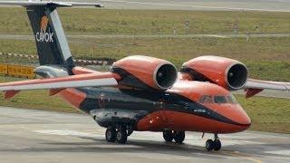 Cavok Air Antonov-74 taxiing and take off at ZRH