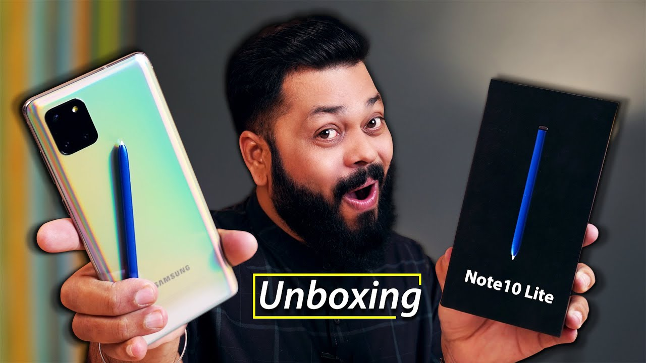 Samsung Galaxy Note 10 Lite Unboxing e primeiras impressões owerPower Of S-Pen Under 40000 + vídeo