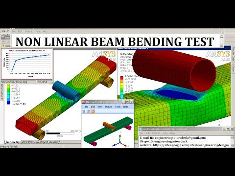 ANSYS Bending Test | Highly Non Linear Analysis | GRS |