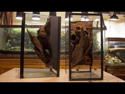 DIY Naturalistic Expanding Foam Vivarium Background (Aquarium to Viv Conversion pt.2A)