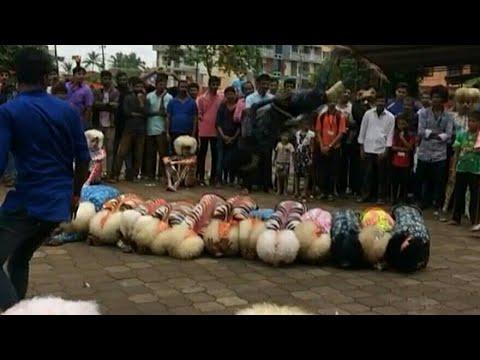 Mangalore Famous Tiger dance (Kudlada Pilikulu)