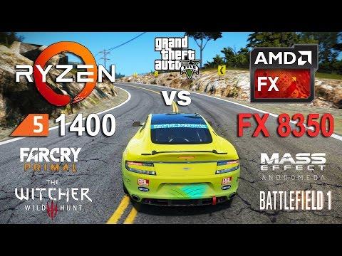 Ryzen 5 1400 vs FX 8350 Test in 6 Games (GTX 1060)