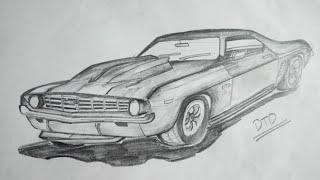 How to Draw 3D 1957 Chevy Nova Easily  Chevrolet
