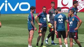 Isco, en el Entrenamiento de la Selección Española en Krasnodar
