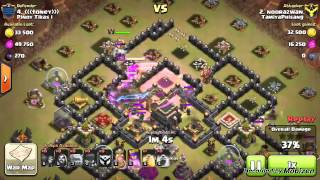 Clash of Clans : TH9 vs TH9 GOWIWI Attacks!