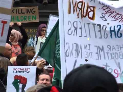 Speech at Protest for Palestine State Library Melbourne