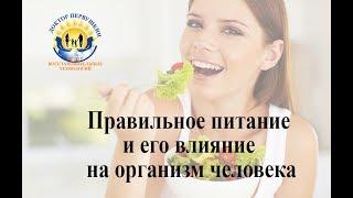 Правильное питание и его влияние на организм человека