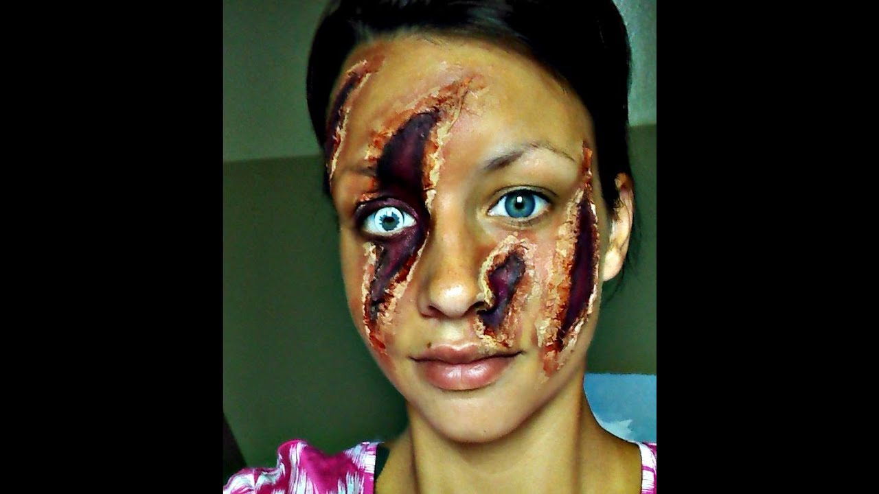 Halloween Series 2015 Easy Clawed Face Makeup - YouTube